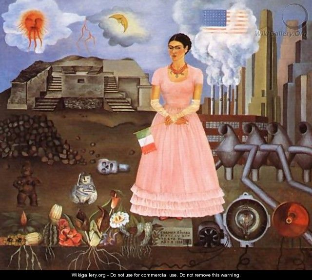 Self Portrait On The Borderline Between Mexico And The United States 1932 - Frida Kahlo