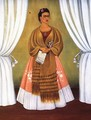 Self Portrait Dedicated To Leon Trotsky Or Between The Curtains 1937 - Frida Kahlo
