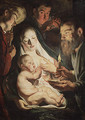 The Holy Family with Shepherds 1616 - Jacob Jordaens
