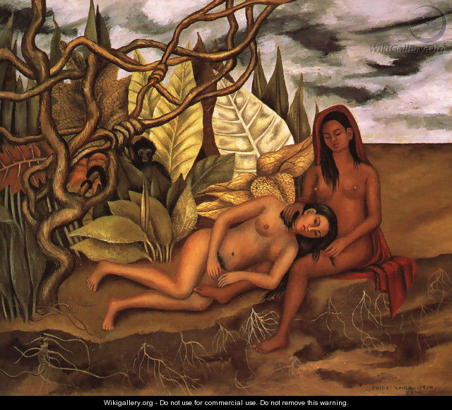 Two Nudes In A Forest 1939 - Frida Kahlo