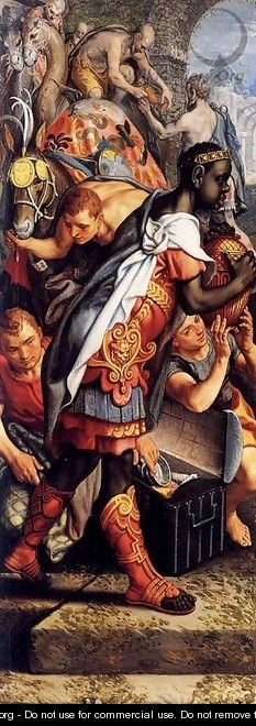 Left wing of a Triptych with the Adoration of the Magi 1560 - Pieter Aertsen