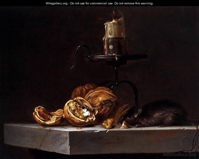 Still Life with Mouse and Candle 1647 - Willem Van Aelst