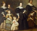 Self-Portrait of the Artist with his Wife Suzanne Cock and their Children - Cornelis De Vos