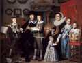 Portrait of Michiel van der Dussen and His Family - Hendrick Van Vliet