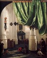 Interior of the Oude Kerk, Delft, with the Tomb of Piet Hein - Hendrick Van Vliet