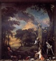 Landscape with Huntsman and Dead Game - Jan Weenix