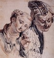 Sketch with Two Figures - Jean-Antoine Watteau
