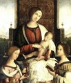 Madonna and Child with Sts Mary Magdalene and Catherine of Alexandria 2 - Bernardino di Bosio (see ZAGANELLI)