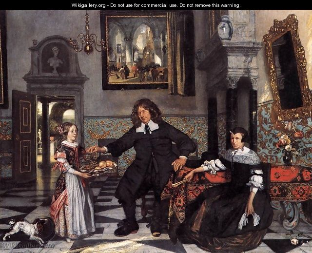 Portrait of a Family in an Interior - Emanuel de Witte