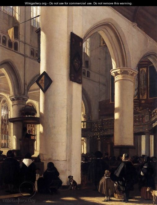 Interior of a Protestant Gothic Church 2 - Emanuel de Witte