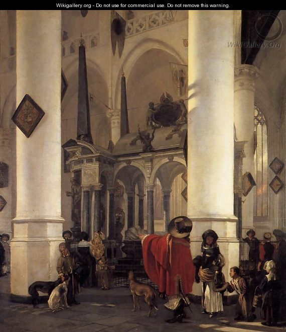 View of the Tomb of William the Silent in the New Church in Delft - Emanuel de Witte