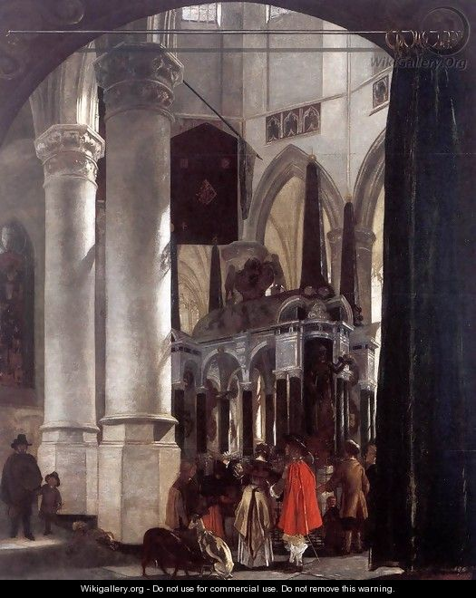 The Nieuwe Kerk in Delft with the Tomb of William the Silent - Emanuel de Witte