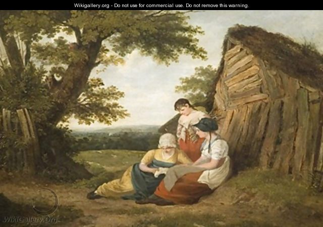 Landscape with Three Figures - William Collins