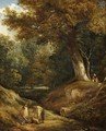 A Woodland Glade with Figures - William Collins