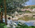 On the Bank of Seine Bennecourt - Claude Oscar Monet