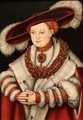 Portrait of Magdalena of Saxony - Lucas The Elder Cranach