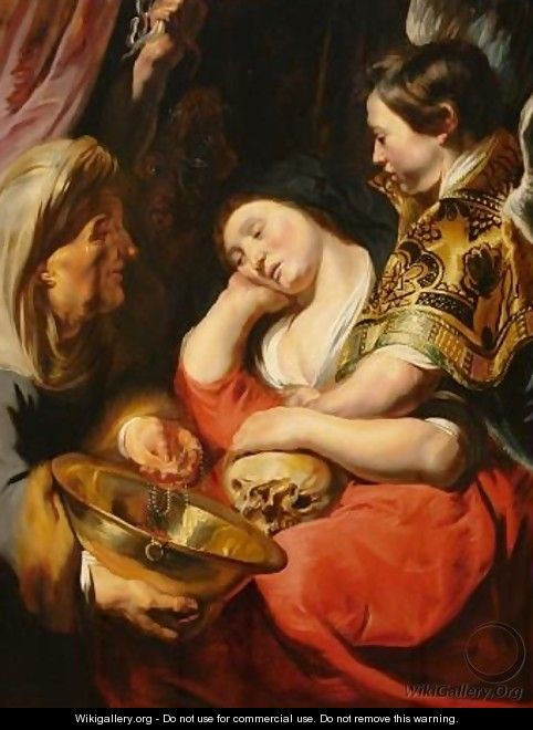 The Temptation of Magdalene - Jacob Jordaens