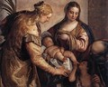 Holy Family with St Barbara and the Infant St John - Paolo Veronese (Caliari)