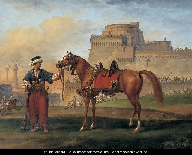 A Mameluk Leading His Horse - Carle Vernet