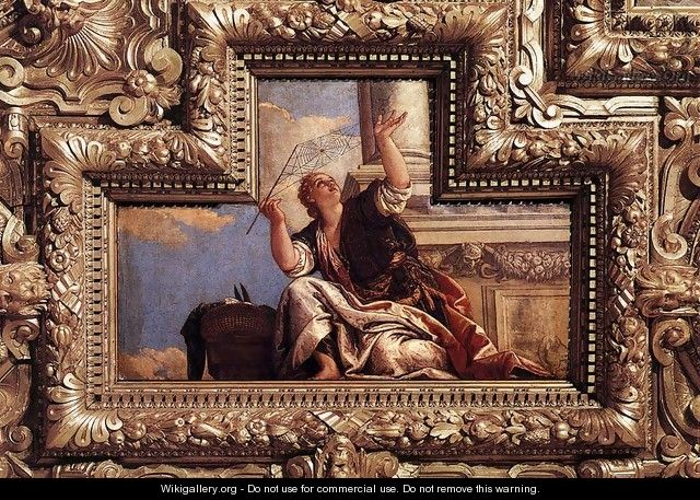 Ceiling decoration (detail) - Paolo Veronese (Caliari)