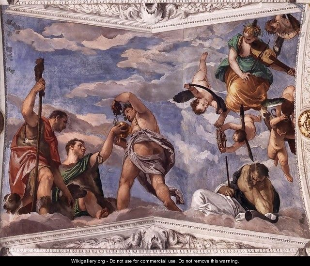 Bacchus, Vertumnus and Saturn - Paolo Veronese (Caliari)