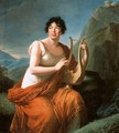 Portrait of Madame de Stael as Corinne on Cape Misenum - Elisabeth Vigee-Lebrun