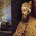 Portrait of the Doge Francesco Venier (detail) 2 - Tiziano Vecellio (Titian)