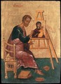 Luke Paints the Icon of the Mother of God Hodegetria - Russian Unknown Master