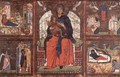 Virgin and Child Enthroned with Scenes from the Life of the Virgin - Italian Unknown Master