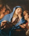 Virgin of Sorrow Surrounded by Angels - Christoph Unterberger