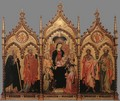Madonna and Child Enthroned with Saints - Italian Unknown Master