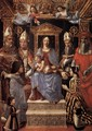 Virgin and Child Enthroned with the Doctors of the Church - Italian Unknown Master