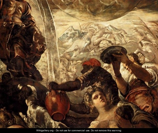 Moses Drawing Water from the Rock (detail) - Jacopo Tintoretto (Robusti)