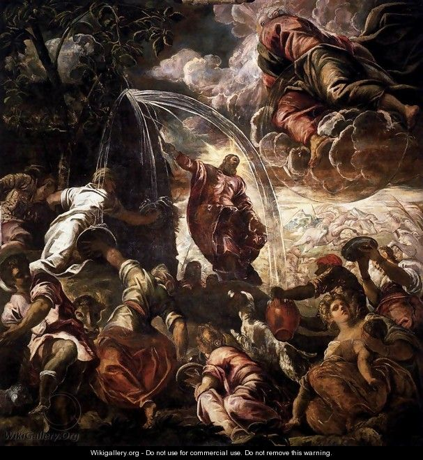 Moses Drawing Water from the Rock - Jacopo Tintoretto (Robusti)