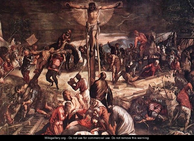 Crucifixion (detail) 3 - Jacopo Tintoretto (Robusti)
