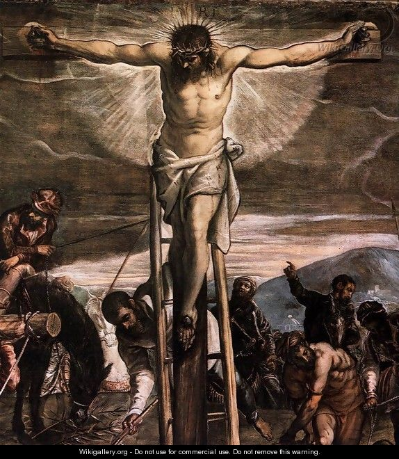 Crucifixion (detail) - Jacopo Tintoretto (Robusti)