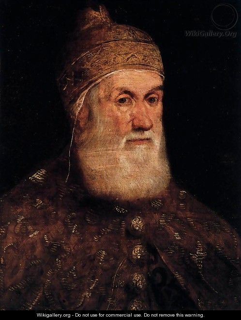 Portrait of Doge Girolamo Priuli 2 - Jacopo Tintoretto (Robusti)