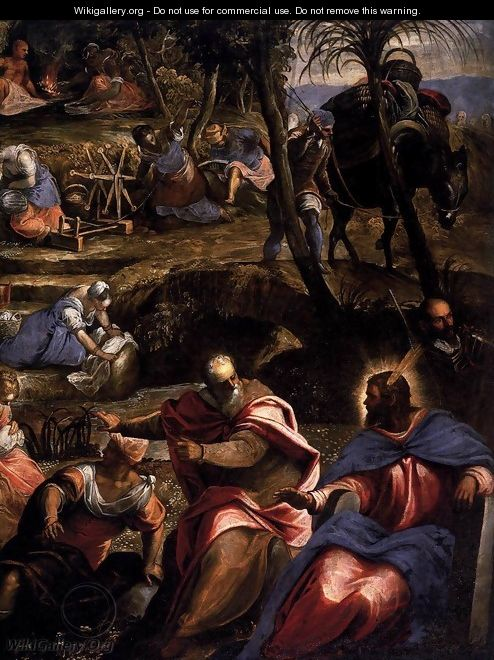 The Jews in the Desert (detail) 2 - Jacopo Tintoretto (Robusti)