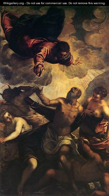 The Temptation of St Anthony 2 - Jacopo Tintoretto (Robusti)