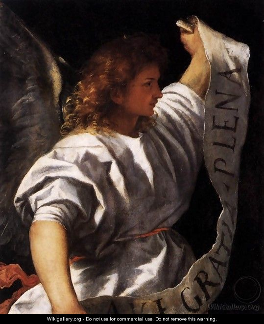 Polyptych of the Resurrection Archangel Gabriel - Tiziano Vecellio (Titian)
