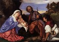 The Holy Family with a Shepherd 2 - Tiziano Vecellio (Titian)