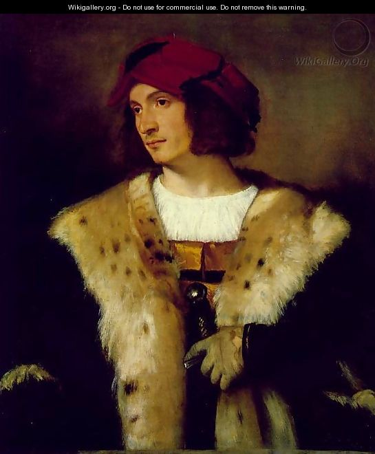 Portrait of a Man in a Red Cap - Tiziano Vecellio (Titian)