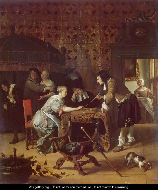 Tric-Trac Players - Jan Steen