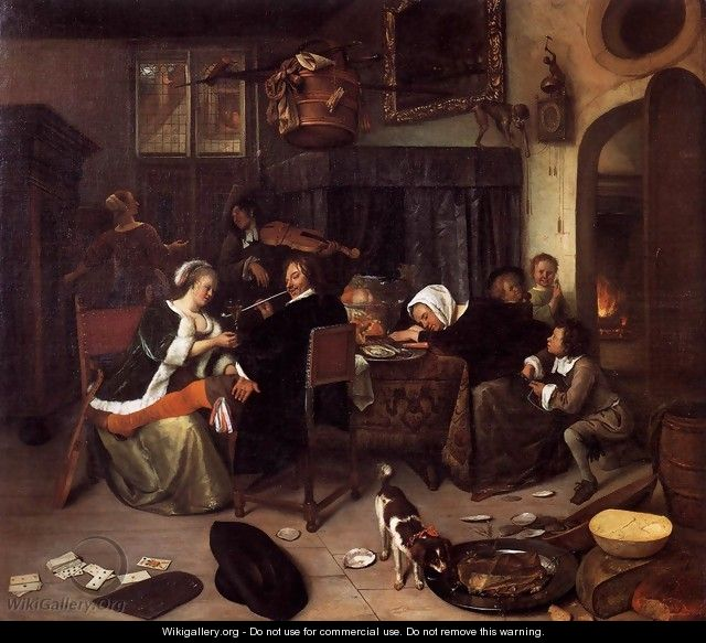 The Dissolute Household - Jan Steen