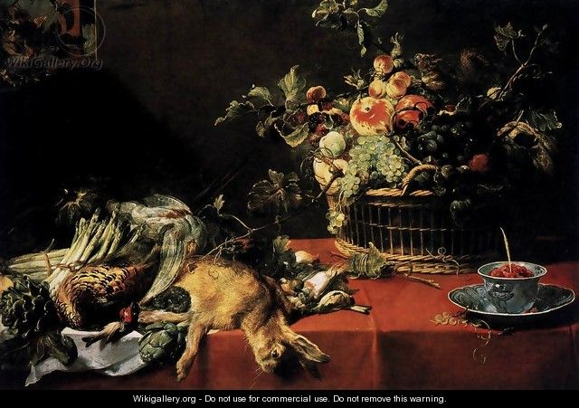 Still-Life with Fruit Basket and Game 2 - Frans Snyders