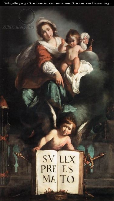 The Madonna of Justice - Bernardo Strozzi