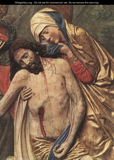 High Altar of St Mary (detail of the Lamentation) - Veit Stoss