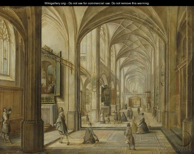 Interior of a Gothic Church - Hendrick van, the Younger Steenwyck