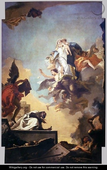 Apparition of the Virgin to St Simon Stock 2 - Giovanni Battista Tiepolo