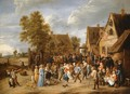 Village Revel with Aristocratic Couple - David The Younger Teniers
